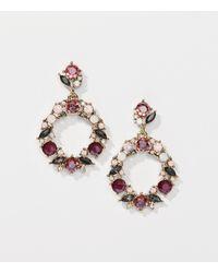 LOFT - Metallic Stone Wreath Earrings - Lyst