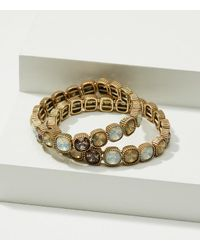 LOFT   Metallic Stretch Stone Bracelet Set   Lyst