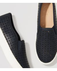 LOFT - Blue Perforated Slip-on Sneakers - Lyst