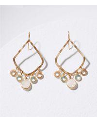 LOFT - Metallic Stone Dangle Drop Earrings - Lyst