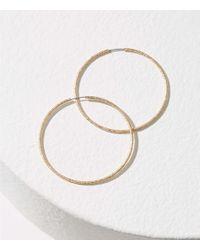 LOFT - Metallic Twist Hoop Earrings - Lyst