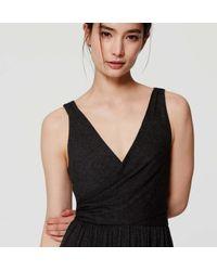 LOFT - Black Double V Maxi Dress - Lyst