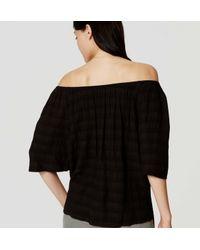 LOFT - Black Petite Off The Shoulder Blouse - Lyst