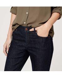 LOFT - Blue Modern Kick Crop Jeans In Dark Rinse Wash - Lyst