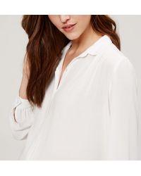 LOFT - White Maternity Shirred Sonnet Blouse - Lyst