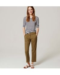 LOFT - Green Petite Kick Crop Utility Pants In Marisa Fit - Lyst