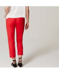 LOFT - Red Petite Maternity Doubleweave Riviera Cropped Pants - Lyst