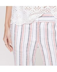 LOFT - Multicolor Tall Stripe Cropped Skinny Chinos In Marisa Fit - Lyst