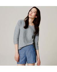 LOFT - Gray Speckled Kimono Sweater - Lyst