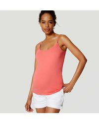 LOFT - Pink Maternity Clean Cami - Lyst