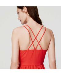 LOFT - Petite Tiered Strappy Maxi Dress - Lyst