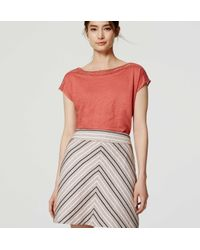 LOFT - Multicolor Chevron Tweed Skirt - Lyst