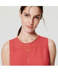 LOFT | Metallic Modern Necklace Set | Lyst
