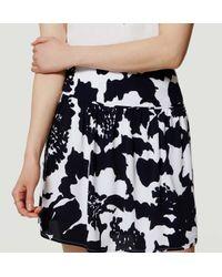 LOFT - Blue Petite Monochrome Floral Flippy Skirt - Lyst