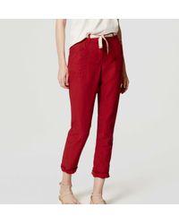 LOFT - Red Petite Safari Pants - Lyst