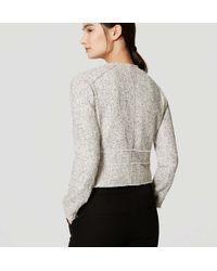 LOFT - White Edged Tweed Jacket - Lyst