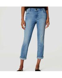 LOFT - Blue Skinny Crop Jeans In Light Enzyme Wash - Lyst