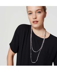 LOFT - Multicolor Extra Long Pearlized Necklace - Lyst