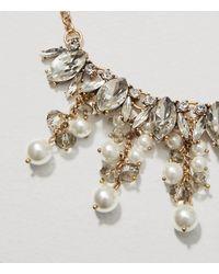 LOFT - Metallic Pearlized Dangle Necklace - Lyst