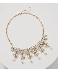 LOFT | Metallic Pearlized Dangle Necklace | Lyst