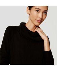 LOFT - Black Maternity Cowl Tunic Sweater - Lyst