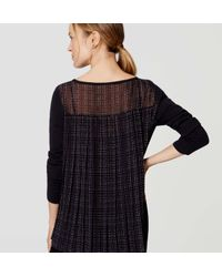 LOFT - Blue Maternity Plaid Pleated Sweater - Lyst