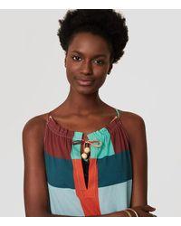 LOFT - Multicolor Beach Squared Halter Maxi Dress - Lyst