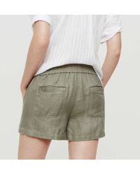 LOFT - Green Petite Lou & Grey Brushed Linen Shorts - Lyst