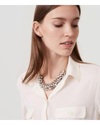 LOFT - Metallic Pearlized Bauble Necklace - Lyst