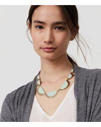 LOFT | Metallic Stone Half Circle Necklace | Lyst