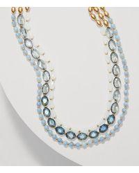 LOFT - Metallic Blue Sky Multistrand Necklace - Lyst