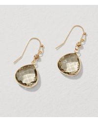 LOFT   Metallic Multifaceted Drop Earrings   Lyst
