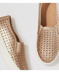 LOFT Metallic Perforated Slip-on Sneakers