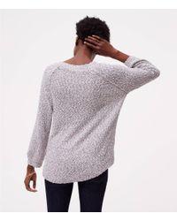 LOFT - Multicolor Petite Marled Sweatshirt Sweater - Lyst