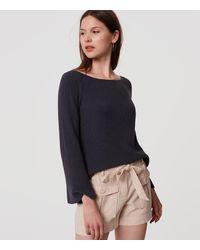 LOFT   Gray Petite Bar Bell Sleeve Sweater   Lyst