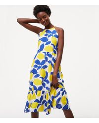 LOFT | White Petite Lemonade Halter Dress | Lyst