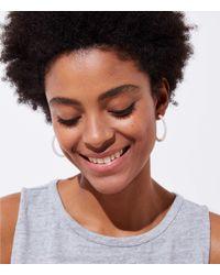 LOFT - Metallic Iridescent Hoop Earrings - Lyst