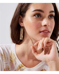 LOFT - Metallic Stone Chain Fringe Earrings - Lyst
