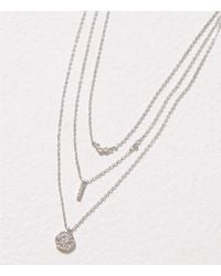 LOFT - Multicolor Delicate Pave Layered Necklace - Lyst