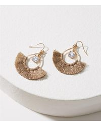 LOFT | Metallic Stone Tassel Earrings | Lyst