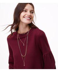 LOFT | Metallic Crystal Layered Pendant Necklace | Lyst