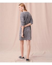 LOFT - Gray Lou & Grey Marled Drop Shoulder Dress - Lyst