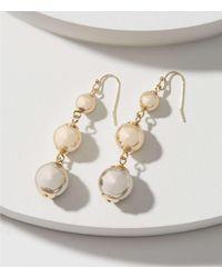 LOFT - Metallic Ball Drop Earrings - Lyst