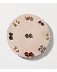 LOFT - Metallic Crystal Stud Earring Set - Lyst