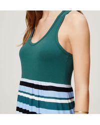 LOFT - Green Beach Striped Racerback Maxi Dress - Lyst