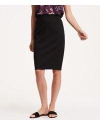 LOFT - Black Petite Curvy Seamed Scuba Pencil Skirt - Lyst