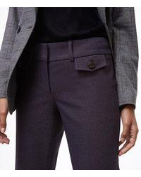 LOFT - Blue Petite Trousers In Button Pocket Tweed In Julie Fit - Lyst