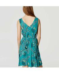 LOFT - Green Vine Tie Swing Dress - Lyst