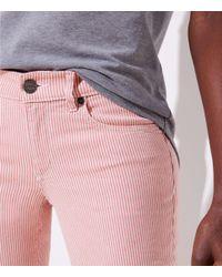LOFT - Modern Skinny Crop Jeans In Railroad Red - Lyst