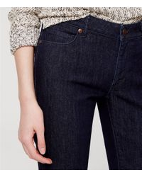 LOFT - Blue Petite Curvy Kick Crop Jeans In Dark Rinse Wash - Lyst